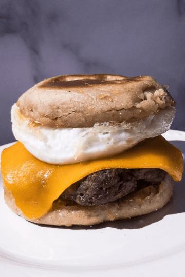 Venison Sausage Egg McMuffin