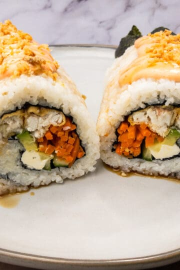 Redfish Tempura Sushi